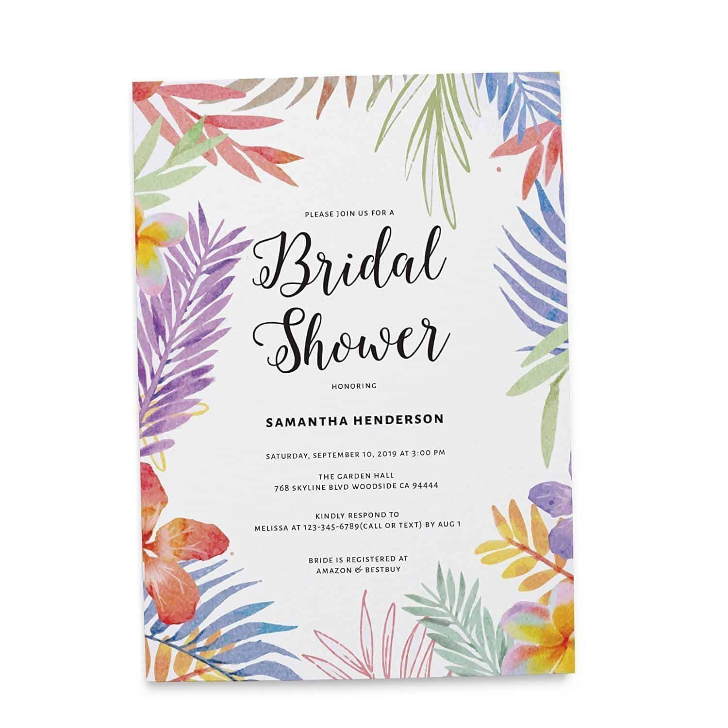 Tropical Party | Bridal Shower, Bachelorette Party Cards ...