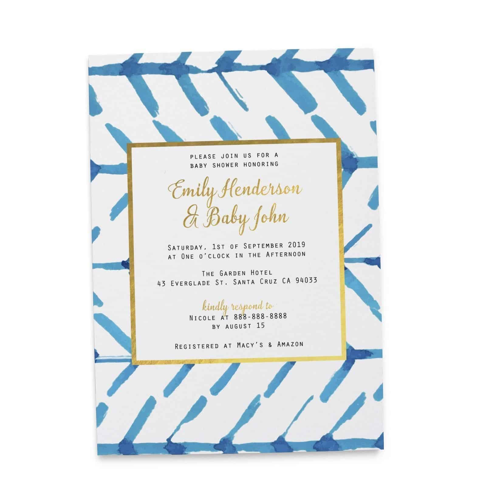 Nautical Theme Design - Baby Shower Party Invitation Cards ...